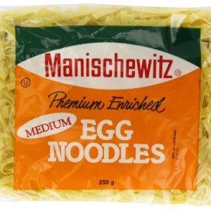 Manischewitz Medium Egg Noodles 250 g (Pack of 6)
