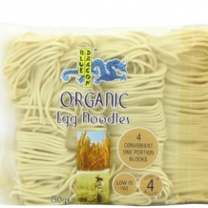 Blue Dragon Organic Egg Noodles 250 g (Pack of 12)