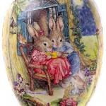 David Westnedge Cardboard Easter Eggs 9 cm (pack of 4)(Designs may Vary)