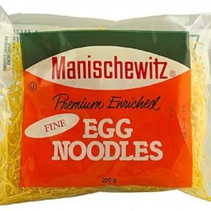Manischewitz Fine Egg Noodles 250 g (Pack of 6)