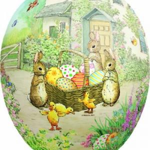 David Westnedge Beatrix Potter Cardboard Easter Eggs 12 cm (Pack of 4)