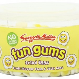 Swizzels Matlow Fun Gum Tubs Fried Eggs (3 x 600)