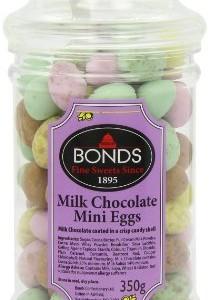 Bonds Milk Chocolate Mini Eggs Jars 225 g (Pack of 6)